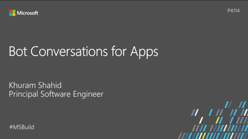 Bot conversations for apps