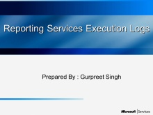 What's execution log in Reporting services
