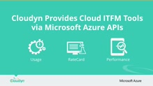 Cloudyn Provides Cloud ITFM Tools Via Microsoft Azure APIs