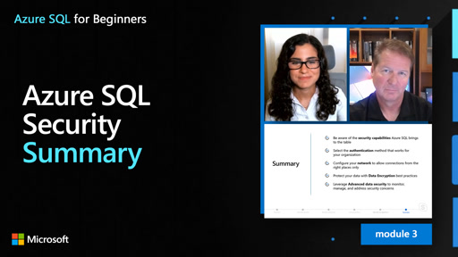Azure SQL Security – Summary (33 of 61)