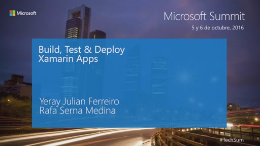 T2 - Mobile apps & Cross - Platform: Build, Test & Deploy Xamarin apps