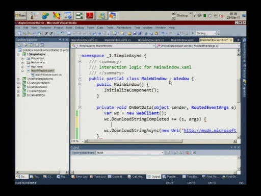 Israeli MSDN Session: Asynchronous Programming with C# v.Next 29.03.2011 Part 1