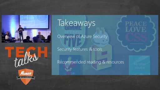 Tech Talks 2016 Arrow Stage Azure Security