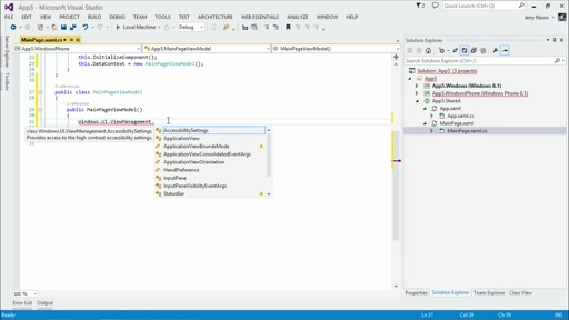 Developing Universal Windows Apps with C# and XAML: (02) Building Universal Windows Apps - Part 2