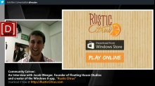 "Microsoft DevRadio: Community Corner - An Interview with Jacob Wenger, creator of ""Rustic Citrus"" for Windows 8"