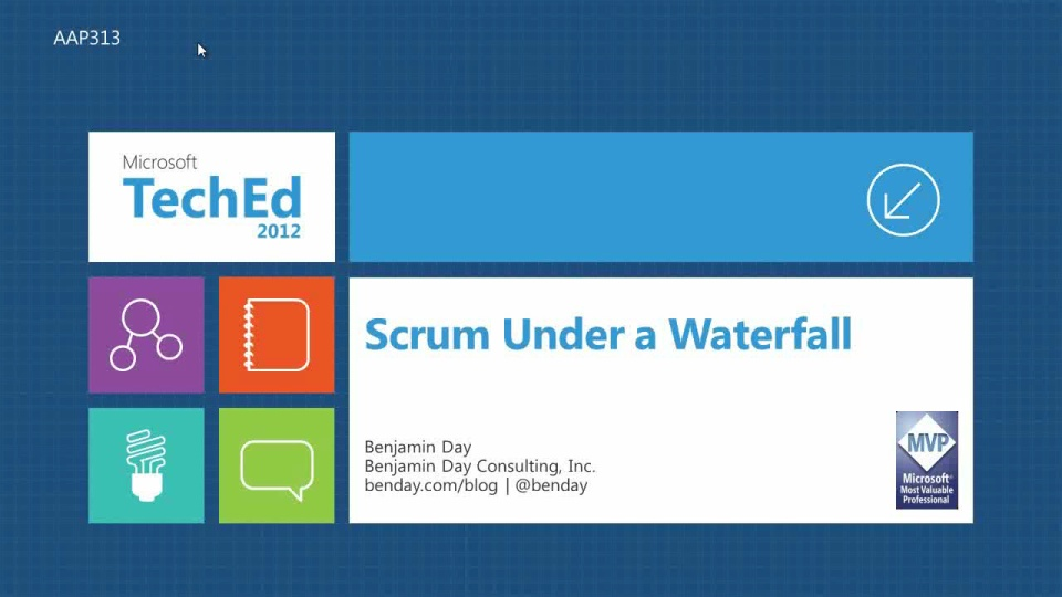 Scrum Under a Waterfall