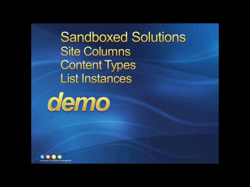Session 2 - Part 2 - Sandboxed Solutions - Deploying a List