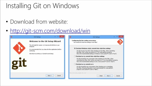 Using Git with Visual Studio 2013: (02) Install and Configure Git