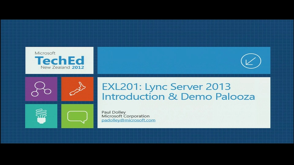 Microsoft Lync Server 2013 Introduction and Demo Palooza
