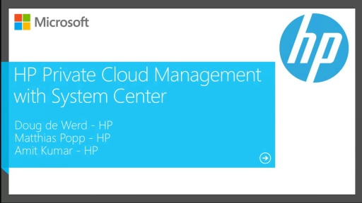 HP Private Cloud Management with System Center