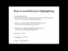 How to use Reference Highlighting in Visual Studio 2010