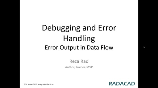 Error Output in Data Flow