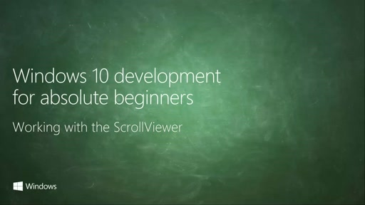 UWP-026 - Working with the ScrollViewer