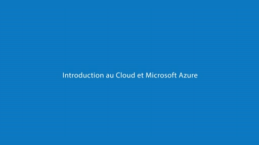 1 | Introduction au cloud et Microsoft Azure