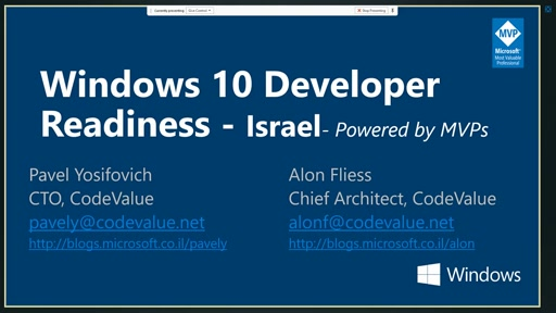 Windows 10 Developer Readiness [Israel]