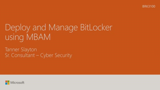 Deploy and manage BitLocker using MBAM