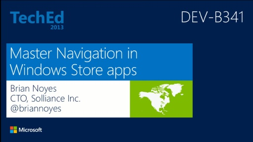 Master Navigation in Windows Store Apps