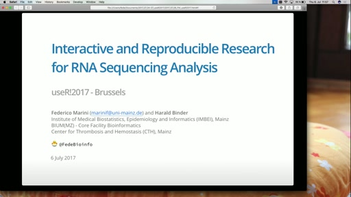 Interactive and Reproducible Research for RNA Sequencing Analysis