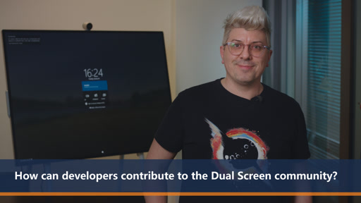 How can developers contribute to the Dual Screen community | One Dev Question