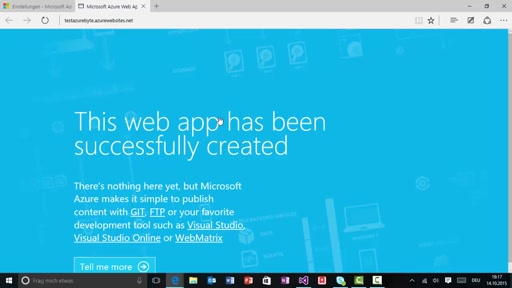 Azure Byte: Web Apps über DreamSpark kostenfrei in Azure hosten