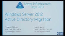 WS02 - Windows Server 2012 Active Directory Migration