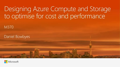 Designing Azure Compute and Storage to optimise for cost and performance