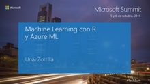 T6 - Cortana Intelligence Suite: Machine Learning con R y Azure ML