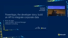 PowerApps, the developer story: build an API to integrate corporate data
