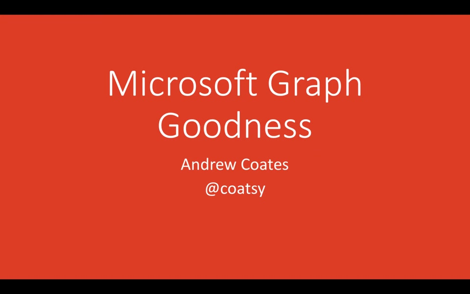 CRUD with the Microsoft Graph