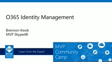 Office 365 Identity Management.