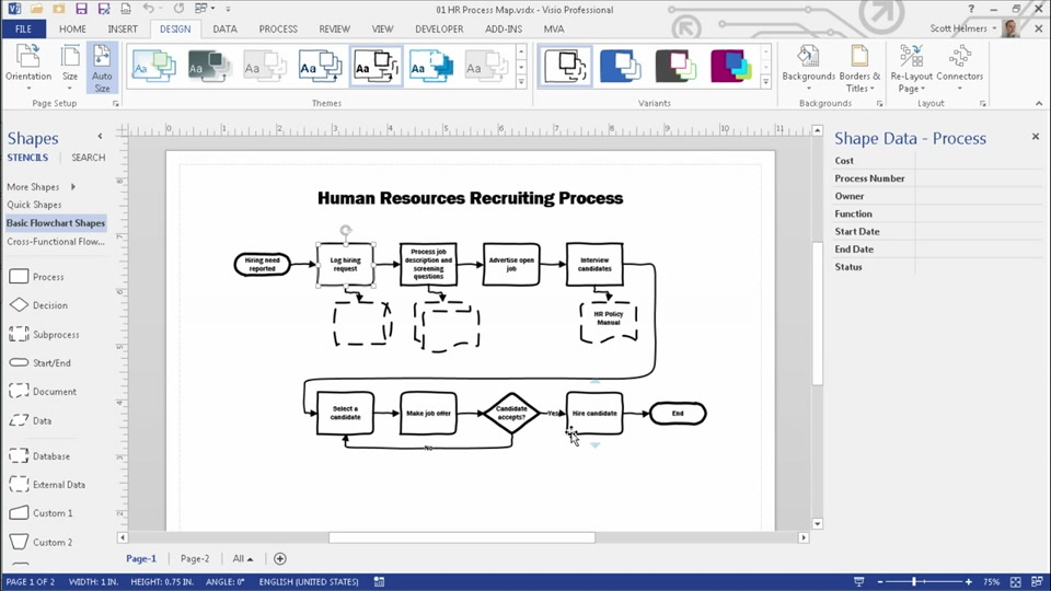 Becoming a Visio 2013 Power User: (01) Key Tools and Skills