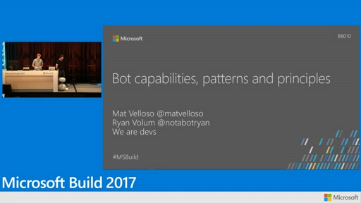 Bot capabilities, patterns and principles