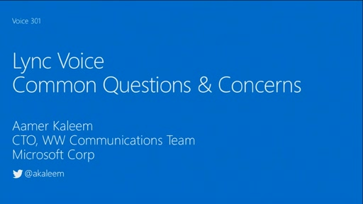 Common Questions & Concerns about Lync Voice