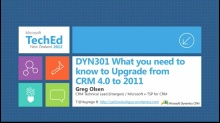 What You Need to Know to Upgrade from Microsoft Dynamics CRM 4.0 to Microsoft Dynamics CRM 2011