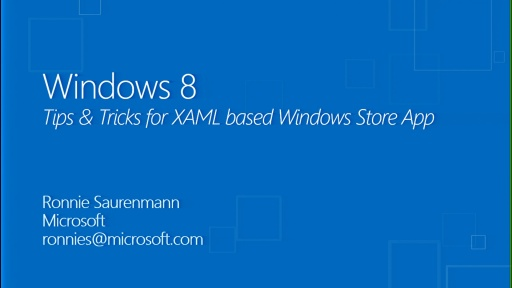 Tips & Tricks pour la création des applications Windows Store avec C# et XAML
