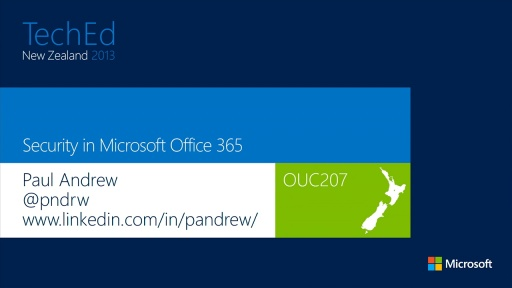 Security in Microsoft Office 365