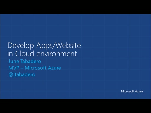 Develop Apps/Website in Cloud environment. (June Tabadero)