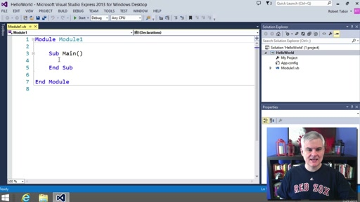 Visual Basic Fundamentals for Absolute Beginners: (03) Creating Your First Visual Basic Program