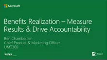 Benefits Realization - Measure Results & Drive Accountability