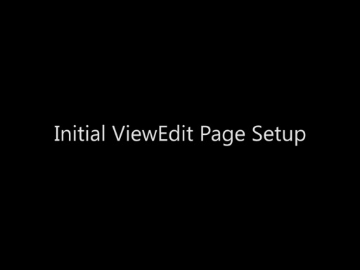 Initial ViewEdit Page Setup - Day 4 - Part 9