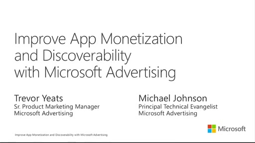 Improve App Monetization and Discoverability with Microsoft Advertising