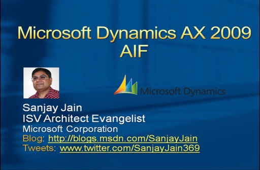 Microsoft Dynamics AX 2009 AIF Web Services Screencast