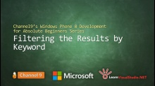Part 29: Filtering the Results by Keyword