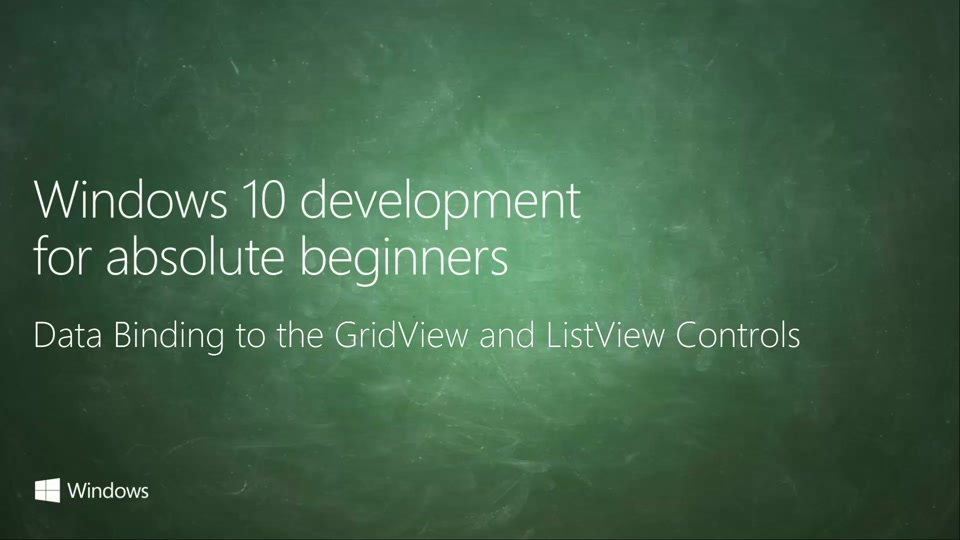 UWP-040 - Data Binding to the GridView and ListView Controls