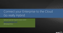 Connecting your Enterprise to the Cloud – Go really hybrid