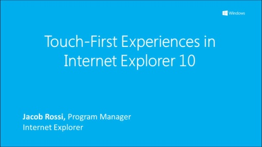 Touch-First Experiences in IE 10
