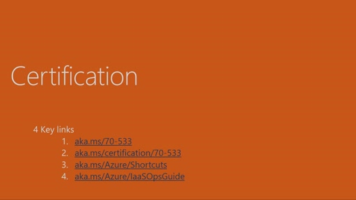 Cert Exam Prep: Exam 70-533: Implementing Azure Solutions