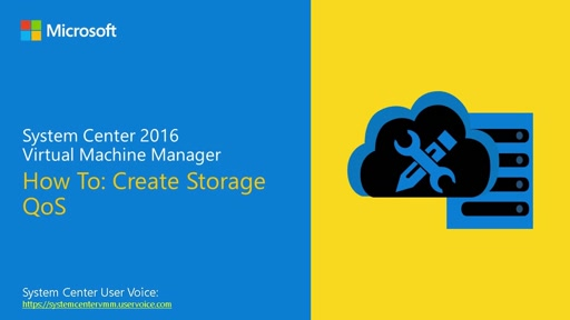 Demo: Create & set Storage QoS