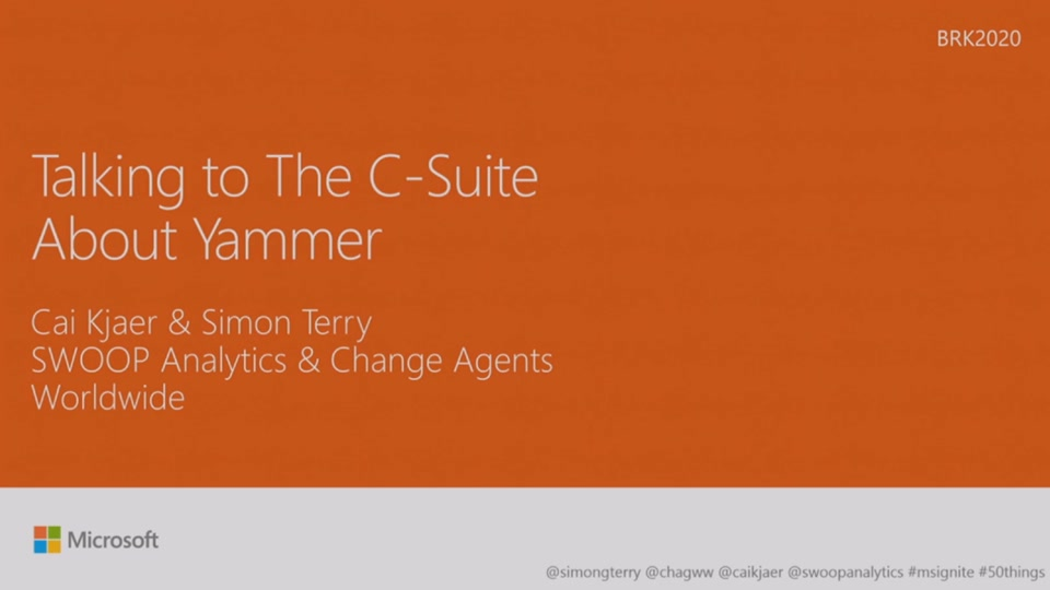 Talk to your C-suite about Yammer