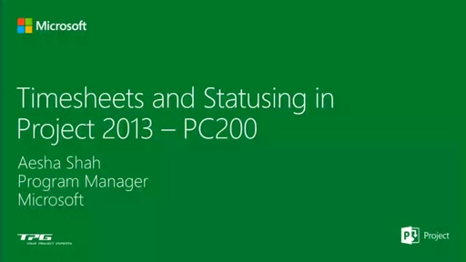 Get the real picture - Timesheeting and Statusing in Project Online and Project Server 2013
